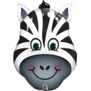 Balon Folie Figurina Cap de Zebra - 81 cm, Qualatex 16166