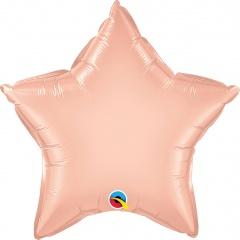 """Balon folie metalizat stea rose gold - 20""""/50 cm, Qualatex 57163"""
