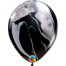 Balon Latex SuperAgate 11 inch (28 cm) Black & White, Qualatex 39921