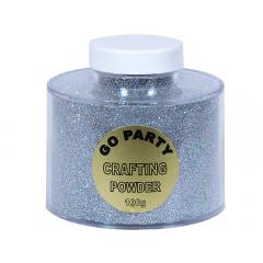 Pudra cu sclipici Argintiu Holografic Pentru Baloane- 100 gr, Qualatex 82483