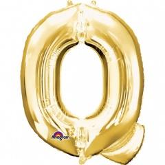 Balon folie mare litera Q auriu - 81 cm, Amscan 32980