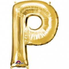 Balon folie mare litera P auriu - 81 cm, Amscan 32978