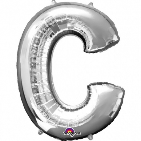 "34""/86 cm Gold Letter C Shaped Foil Balloon, Northstar Balloons 00250"