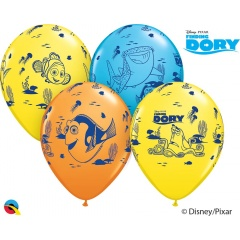 Baloane latex 12''- Finding Dory, Qualatex 45534, Set 6 buc