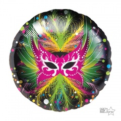 Balon Folie 45 cm, Masca Carnaval - Northstar Balloons 00717
