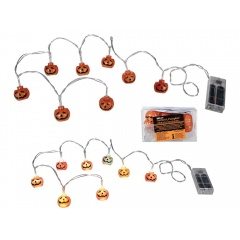 Ghirlanda decorativa cu led Halloween - 3 x 2 cm, L 1.30 m, Radar 190107