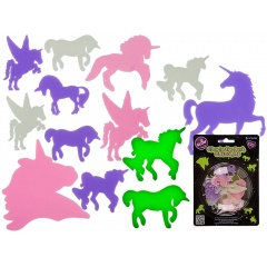 Unicorni decorativi fosforescenti - 2 marimi, Radar 90/1056, set 14/buc