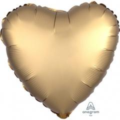 Balon folie inima 45 cm Satin Luxe Gold, Amscan 36803