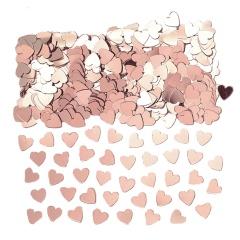 Confetti forma inimioare rose gold - 14 gr, Amscan 9903474