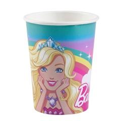 Pahare carton Barbie Dreamtopia pentru petrecere copii - 250 ml, Amscan 9902524, Set 8 buc