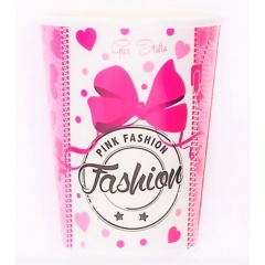 Pahare carton pentru petrecere Pink Fashion - 250 ml, Radar 63623, set 10 bucati