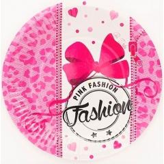 Farfurii carton pentru petrecere Pink Fashion - 18 cm, Radar 63622, set 10 bucati