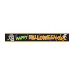 Banner decorativ Happy Halloween - 274 x 12.7 cm, Amscan 129471, 1 buc