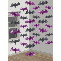 Decor de agatat lilieci Halloween - 210 cm, Amscan 672000, set 6 buc