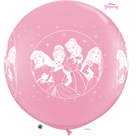 Balon Latex Jumbo 3 ft Printese Disney, Qualatex 49574, 1 buc