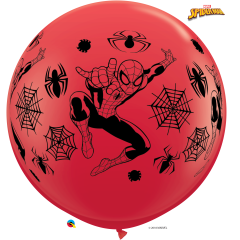 Balon Latex Jumbo 3 ft Spiderman, Qualatex 49573, 1 buc