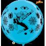 Balon Latex Jumbo 3 ft Spiderman, Qualatex 49573, 1 buc