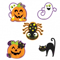 Halloween cardboard cutouts, A191107-55, 10 pieces per pack