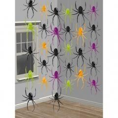 Decor de agatat lilieci Halloween - 210 cm, Amscan 672000, set 6 buc