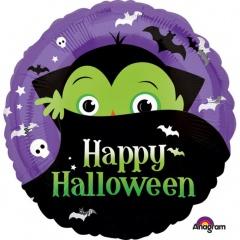 Balon folie 45 cm Dracula Happy Halloween - Amscan 35916