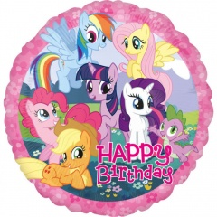 Balon folie 45 cm My Little Pony Happy Birthday, Amscan 27080