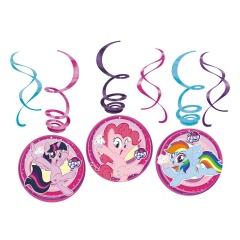 Serpentine decorative My Little Pony 2017 pentru petrecere, Amscan 9902519, set 6 buc