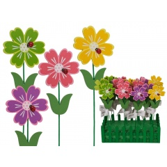Betisoare decorative ghiveci - ca. 4 x 27 cm, Radar 13/7162, diverse culori, 4 buc/set