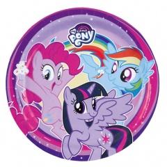 Farfurii carton My Little Pony pentru petrecere copii - 23 cm, Amscan 9902507, Set 8 buc