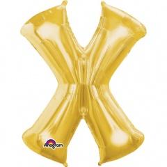 "34""/86 cm Gold LetterX Shaped Foil Balloon, Northstar Balloons 00271"