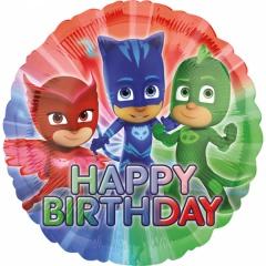 Balon folie 45 cm PJ Masks Happy Birthday - Amscan 34673