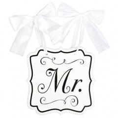 """Placuta decor nunta """"Mr."""" - 23,8 x 24,7 cm, Amscan 241443"""
