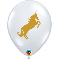 "Baloane latex 11""/28 cm Unicorn, Qualatex 57553"