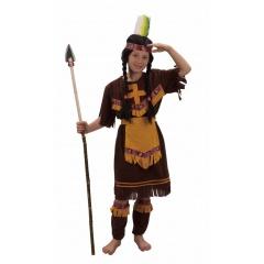 Costum Indianca pentru fetite - 120-130 cm, Radar GD088728.120
