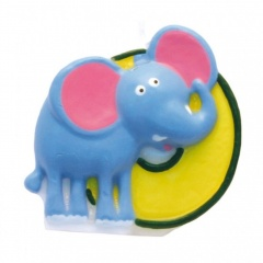 Lumanare aniversara Cifra 0 pentru tort Safari Elephant, Amscan 551800, 1 buc
