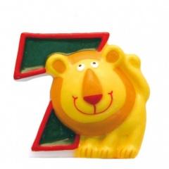 Lumanare aniversara Cifra 7 pentru tort Safari Lion, Amscan 551797, 1 buc
