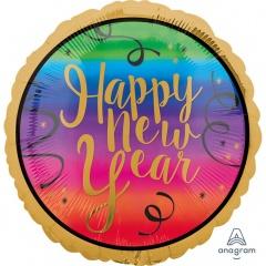 "Balon Folie 45 cm ""Happy New Year"" Colorful, Amscan 34467"