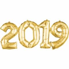 Pachet baloane folii 2019 auriu - 53 cm x 22 cm, Amscan 37935