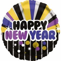 "Balon Folie 45 cm ""Happy New Year"", Amscan 34000"