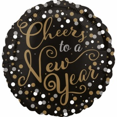 "Balon Folie 45 cm ""Cheers to a New Year"", Amscan 32097"