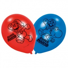 """9"""" Printed Latex Balloons, Spiderman Assorted, Amscan 998233, Pack of 6 pieces"""