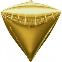 Balon folie diamondz Auriu - 38 x 43 cm, Amscan 28340
