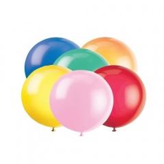 Balon Latex Jumbo 80 cm, Asortate Sidefat, Gemar GM220.ASS, set 5 buc