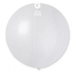 Balon Latex Jumbo 80 cm, White 29 Sidefat, Gemar GM220.29, set 5 buc