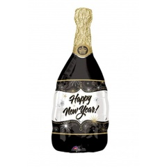 Champagne Bottle Shape Foil Balloon - 41x117 cm, Amscan 10257