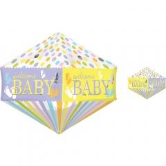 Balon Folie Anglez Welcome Baby - 43 x 53 cm, Amscan 32248