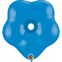 "6"" Sapphire Blue GEO Blossom Latex Balloons, Qualatex 43631"