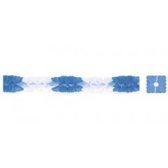 Ghirlanda decorativa pentru petrecere, alba cu albastru - ca. 3 m, Radar 61009, 1 bucata