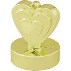 Greutate pentru baloane forma inima - aurie, 110 g, Qualatex 12479