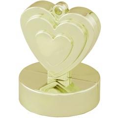 Greutate pentru baloane forma inima - ivory, 110 g, Qualatex 13336
