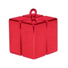Greutate pentru baloane forma cadou rosu - 110 g, Qualatex 14395